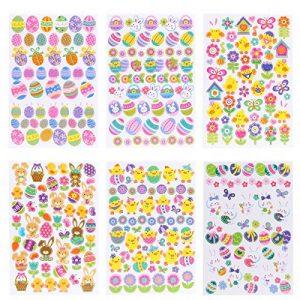 Naler Pâques Stickers autocollants en vinyle pour enfants enfant DIY Craft Art faire de la décoration, 6feuilles de la marque Naler image 0 produit