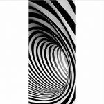 Namefeng Stickers Porte Spirale Stickers muraux Noir et Blanc Stickers Porte Autocollants décoration de la Maison 77X200Cm de la marque Namefeng image 2 produit