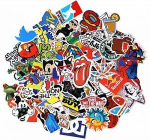 Neuleben Autocollant Lot [100-pcs] Graffiti Autocollant Stickers vinyles pour ordinateur portable, enfants, voitures, moto, vélo, Skateboard bagages, Bumper Stickers hippie autocollants Bomb étanche de la marque Neuleben image 0 produit
