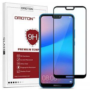 OMOTON Huawei P20 Lite Film Protection Ecran Verre Trempé (5.84') [Couvir l'écran Complèt] [sans Bulles] Protecteur Ecran Noir (5.84 Pouces) de la marque OMOTON image 0 produit