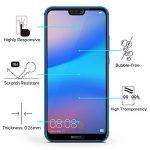 OMOTON Huawei P20 Lite Film Protection Ecran Verre Trempé (5.84') [Couvir l'écran Complèt] [sans Bulles] Protecteur Ecran Noir (5.84 Pouces) de la marque OMOTON image 1 produit