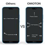 OMOTON Huawei P20 Lite Film Protection Ecran Verre Trempé (5.84') [Couvir l'écran Complèt] [sans Bulles] Protecteur Ecran Noir (5.84 Pouces) de la marque OMOTON image 3 produit