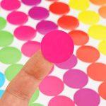 Onupgo Lot de 11202,5cm Round Dot Stickers Diamètre ronds Code couleur Cercle Dot étiquettes Autocollant onglet étiquettes, lumineux Couleurs assorties de la marque OnUpgo image 2 produit