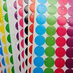 Onupgo Lot de 11202,5cm Round Dot Stickers Diamètre ronds Code couleur Cercle Dot étiquettes Autocollant onglet étiquettes, lumineux Couleurs assorties de la marque OnUpgo image 3 produit