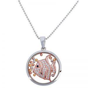 OSA Jewels les folies Stickers muraux le collier avec pendentif en argent rhodié 925verre trempé, Oxyde de Zirconium de la marque Osa-Jewels image 0 produit