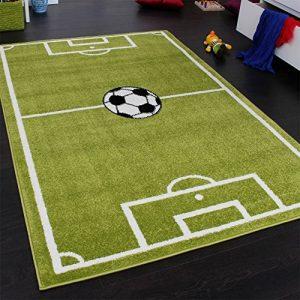 Paco Home, Tapis Motif Terrain de Football, pour garçon, Vert et Blanc, 80x 150cm de la marque Paco-Home image 0 produit