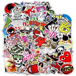 PAMIYO 300pcs Autocollant, Sticker de Voiture en Vinyle Stickers Pack des Vintage Retro Stickers Bomb Pack Idéal pour Les Ordinateurs Portables Skateboard Bagages Valise vélo de la marque PAMIYO image 0 produit