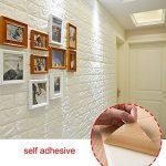 Papier-peint briques 3D, Mousse autocollante PE amovible pour salon sq ft 3.875/pcs (Blanc Brique 5 pièces) de la marque Render image 3 produit