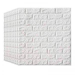 Papier peint de briques de mousse de Faux de panneaux de mur auto-adhésifs 3D pour des murs de TV/décor de mur de fond de sofa (taille : 20 Pack) de la marque LY-Décoration image 0 produit
