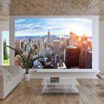 Papier peint de New York à l'horizon décoration de peinture murale ducoucher de soleil vue panoramique de penthouse de Manhattan États-Unis d'Amérique | photo mur deco GREAT ART 336 x 238 cm de la marque GREAT-ART image 1 produit