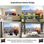 Papier peint de New York à l'horizon décoration de peinture murale ducoucher de soleil vue panoramique de penthouse de Manhattan États-Unis d'Amérique | photo mur deco GREAT ART 336 x 238 cm de la marque GREAT-ART image 3 produit