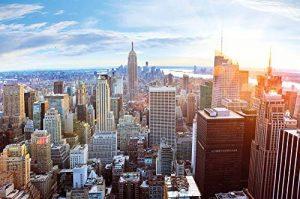 Papier peint de New York à l'horizon décoration de peinture murale ducoucher de soleil vue panoramique de penthouse de Manhattan États-Unis d'Amérique | photo mur deco GREAT ART 336 x 238 cm de la marque GREAT-ART image 0 produit