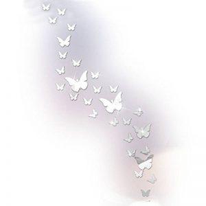 Papillon Miroir Stickers muraux Stickers muraux, cristal acrylique Stickers muraux DIY pour salon Chambre à coucher de salle de bain de la marque Sisdecor image 0 produit