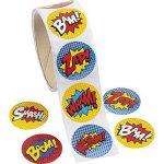 Paquet de 100 - Superhero thème Autocollants - Idéal pour les X-Men, Spiderman, Marvel Super Heroes Party Loot Sacs (Pack of 100 - Superhero Stickers) de la marque Express-Fun-Ltd image 1 produit