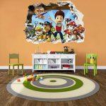 Patte patrouille chocs Sticker mural 3D Chambre Garçon Fille?Grand Art Mural de la marque PrintNow image 1 produit