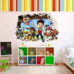 Patte patrouille chocs Sticker mural 3D Chambre Garçon Fille?Grand Art Mural de la marque PrintNow image 3 produit