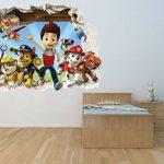 Patte patrouille chocs Sticker mural 3D?Chambre Garçon Fille Motif grand de la marque PrintNow image 2 produit