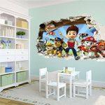 Patte patrouille chocs Sticker mural 3D?Chambre Garçon Fille Motif grand de la marque PrintNow image 3 produit