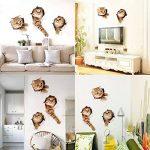 Pazi Sticker Mural Chat Autocollant Muraux 3D Amovible pour Voiture Fenêtre Toilette Salle de Bain Chambre Pépinière Cuisine Décor de Mur de la marque Paizizi image 3 produit