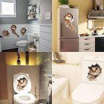 Pazi Sticker Mural Chat Autocollant Muraux 3D Amovible pour Voiture Fenêtre Toilette Salle de Bain Chambre Pépinière Cuisine Décor de Mur de la marque Paizizi image 1 produit