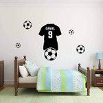Personnalisé autocollant mural. Nom de l'enfant et maillot de foot Football Sticker mural avec le nom d'un enfant. de la marque Deco-online image 1 produit