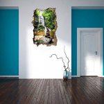 pierres zen devant cascade percée de mur en 3D look, mur ou format vignette de la porte: 92x62cm, stickers muraux, sticker mural, décoration murale de la marque Stil-Zeit image 3 produit