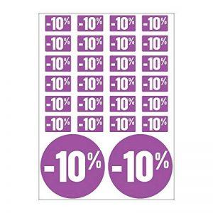 Planche A4 de stickers -10% soldes promotion réduction - C42 de la marque Mygoodprice image 0 produit