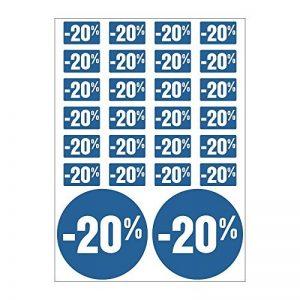 Planche A4 de stickers -20% soldes promotion réduction - C43 de la marque Mygoodprice image 0 produit