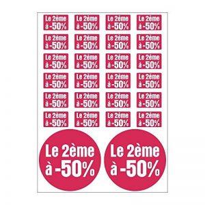 Planche A4 de stickers le 2eme à 50% soldes promotion - C51 de la marque Mygoodprice image 0 produit