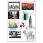 Planche A4 de stickers New York autocollant adhésif scrapbooking - E18 de la marque Mygoodprice image 1 produit