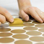 Pois Chambre d'exemple Stickers muraux ronds Cercles Stickers muraux Décoration murale, doré, 3cm, 108 Dots de la marque MJATOP image 2 produit