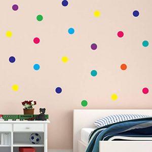 Polka Point Arc-en-ciel multicolore Vinyle Autocollant mural Décor Mural Enfants Salle d'enfants de la marque Wall4stickers image 0 produit