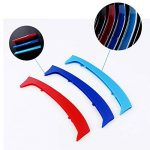 pour 98-01 3 séries E46 Sedan and Touring 3D Colors M Front Grille Trim Strips Cover Stickers+Rear View Mirror Rain Eyebrow 5 Pièces de la marque 8X-SPEED image 1 produit