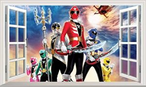 Power Rangers très Grand Format Magic Window Sticker Mural Autocollant Poster Art Mural Taille 1000 mm de Large x 600 mm de Profondeur (Grande) de la marque Chicbanners image 0 produit