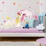 PPS. Imaging Autocollant Mural Mia et Moi–Licornes Onchao et Lyria, Chambre d'enfant, Fille, Licornes, Sticker Mural, Stickers muraux, Tatouages muraux, Stickers muraux, Dimensions: 30cm x 60cm de la marque PPS. Imaging image 2 produit