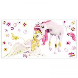 PPS. Imaging Autocollant Mural Mia et Moi–Licornes Onchao et Lyria, Chambre d'enfant, Fille, Licornes, Sticker Mural, Stickers muraux, Tatouages muraux, Stickers muraux, Dimensions: 30cm x 60cm de la marque PPS. Imaging image 0 produit