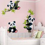 PPS. Imaging Lot de décalcomanies panda pour mur - Nurserie, illustration, décalcomanie, autocollant mural - Dimensions:33x 50 de la marque PPS. Imaging image 1 produit