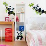 PPS. Imaging Lot de décalcomanies panda pour mur - Nurserie, illustration, décalcomanie, autocollant mural - Dimensions:33x 50 de la marque PPS. Imaging image 3 produit