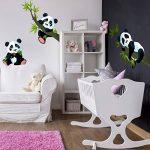 PPS. Imaging Lot de décalcomanies panda pour mur - Nurserie, illustration, décalcomanie, autocollant mural - Dimensions:33x 50 de la marque PPS. Imaging image 4 produit