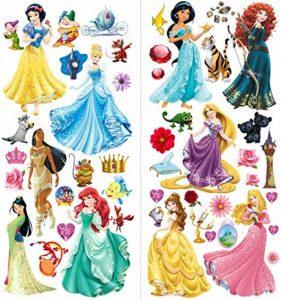 Princesse Stickers muraux Art pour filles Chambre à coucher Autocollant de la marque Finedeco image 0 produit