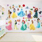 Princesse Stickers muraux Art pour filles Chambre à coucher Autocollant de la marque Finedeco image 1 produit