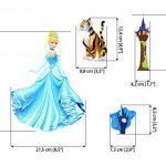 Princesse Stickers muraux Art pour filles Chambre à coucher Autocollant de la marque Finedeco image 4 produit