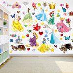 Princesses Stickers muraux pour enfants Chambre à coucher Décoration pour chambre d'enfant Garçons Filles Salon Autocollant mural Grande de la marque PrintNow image 3 produit