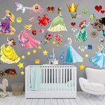 Princesses Stickers muraux pour enfants Chambre à coucher Décoration pour chambre d'enfant Garçons Filles Salon Autocollant mural Grande de la marque PrintNow image 4 produit