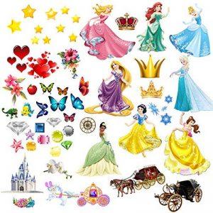 Princesses Stickers muraux pour enfants Chambre à coucher Décoration pour chambre d'enfant Garçons Filles Salon Autocollant mural Grande de la marque PrintNow image 0 produit
