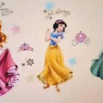 Princesses Stickers Muraux Princesses Disney Chambre D'enfants, Stickers Mural Enfant Fille Chambre Bebe Wall Sticker Kids Autocollants Princesse de la marque Kibi Store image 4 produit