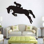 PROKTH Sticker geant mural Decoration chambre Stickers salon Sticker mural cuisine - pour garcon fille enfants - Courses de chevaux Noir 1 set de la marque PROKTH image 3 produit
