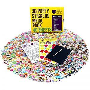 Purple Ladybug Novelty Autocollants pour Enfant, Fille et Garçon de Lot de 40 Planches Uniques, 950 Stickers | Gommettes Animaux, Lettres, Chiffres, Smiley et Plus | Pack d'Échantillons Inclus de la marque Purple Ladybug Novelty image 0 produit