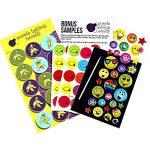 Purple Ladybug Novelty Autocollants pour Enfant, Fille et Garçon de Lot de 40 Planches Uniques, 950 Stickers | Gommettes Animaux, Lettres, Chiffres, Smiley et Plus | Pack d'Échantillons Inclus de la marque Purple Ladybug Novelty image 2 produit