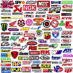 Q-Window Lot Autocollants Voiture et Moto Modified Brand Logo Series (103 pcs) Stickers Vinyle pour Ordinateur Portable, Voiture,Moto,Planche à roulettes,vélo,Bagages,Iphone-Decal Graffiti-étanche de la marque Q-Window image 0 produit